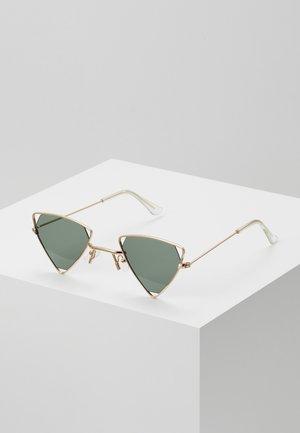 SUNGLASSES UNISEX - Sluneční brýle - black/gold-coloured