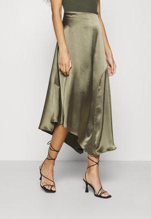 ANI SKIRT - Maxi sukně - olive green