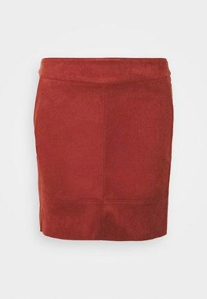 ONLJULIE BONDED  - Pencil skirt - fired brick