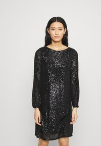 Wallis - SHIFT DRESS - Cocktail dress / Party dress - black - 0