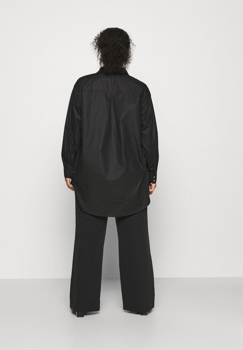Kaffe Curve - CLONE SHIRT - Button-down blouse - black deep