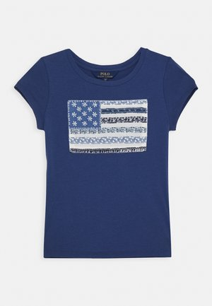 FLAG TEE - Print T-shirt - federal blue