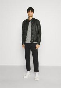Strellson - DRIVER - Leather jacket - black - 1