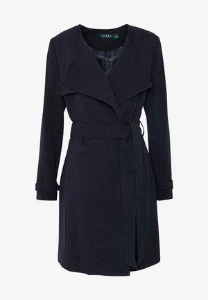 CREPE WRAP LAPEL - Halflange jas - midnight