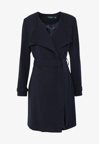 CREPE WRAP LAPEL - Short coat - midnight