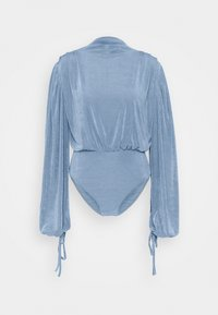 Missguided - MODESTY ACETATE VOLUME SLEEVE  - Long sleeved top - blue - 4