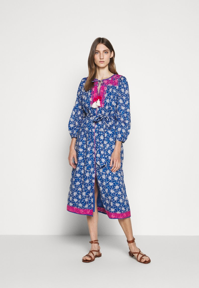 J.CREW - STRAIGHT SKIRT DRESS - Day dress - cerulean/multi