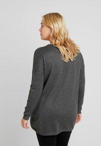Zizzi - MOLYMPIA - Stickad tröja - dark grey melange - 2