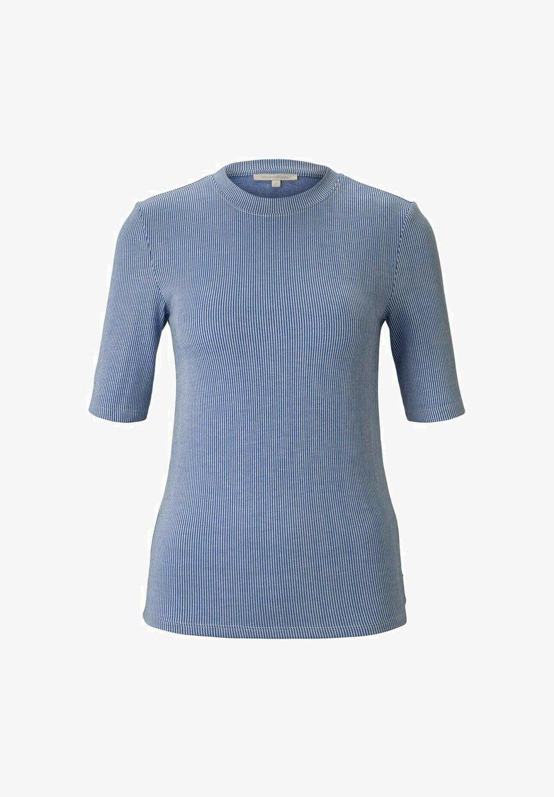 TOM TAILOR DENIM - Print T-shirt - small blue white stripe