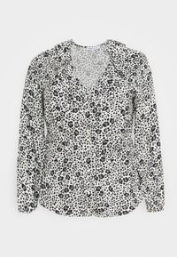 CAPSULE by Simply Be - FRILL BLOUSE - Button-down blouse - black/white - 5