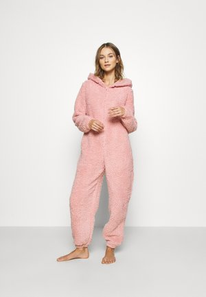 PINK TEDDY SHERPA ONESIE - Overall / Jumpsuit - pink