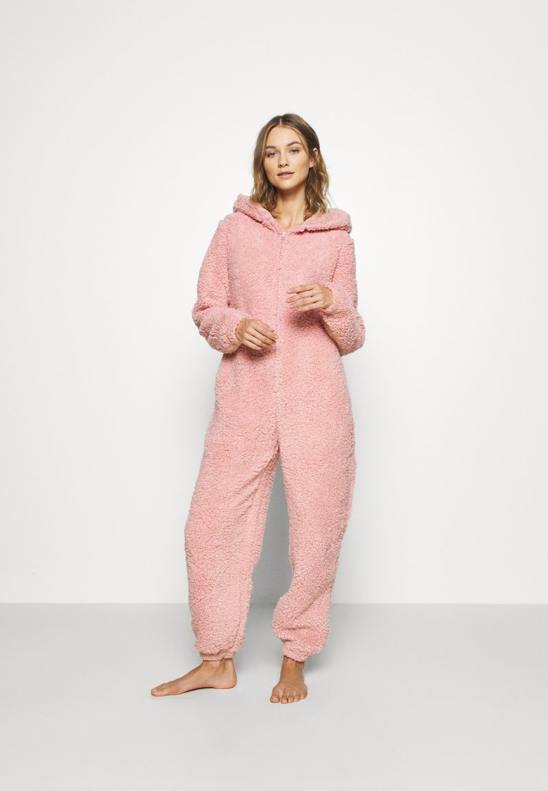 Loungeable - PINK TEDDY SHERPA ONESIE - Overall / Jumpsuit /Buksedragter - pink