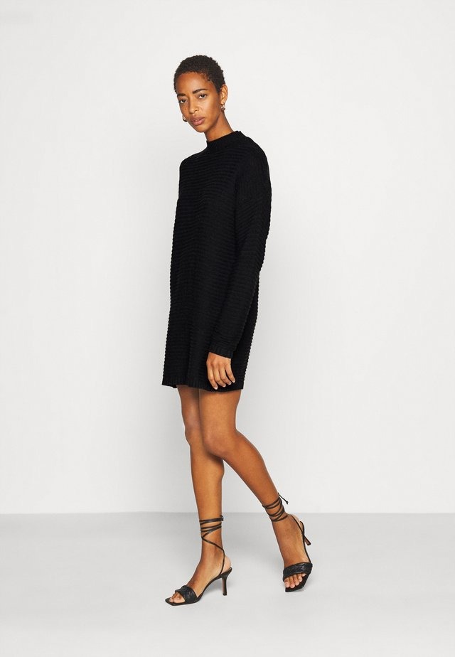 HIGH NECK DRESS - Gebreide jurk - black