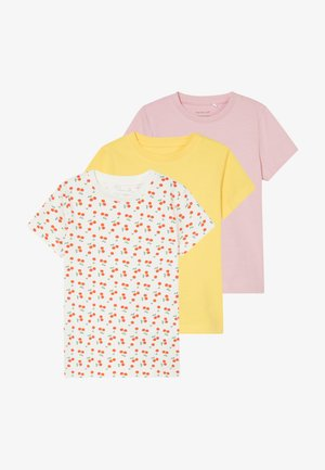 NBFDENKA 3 PACK - T-shirt con stampa - pink nectar
