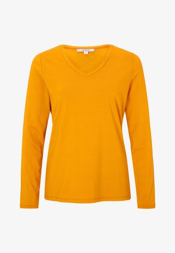 Long sleeved top - curry