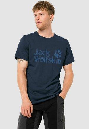 Print T-shirt - night blue