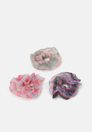 PCJACINTA SCRUNCHIE 3 PACK - Hair Styling Accessory - cherry tomato/grey