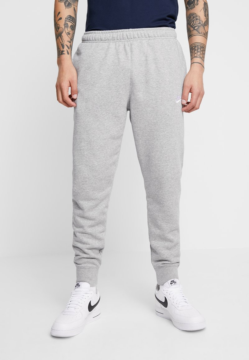 Nike Sportswear - CLUB - Tracksuit bottoms - dark grey heather/matte silver/white