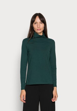 Long sleeved top - dark teal green