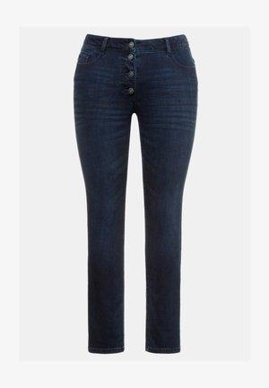 DAMEN GROSSE GRÖSSEN - Slim fit jeans - darkblue