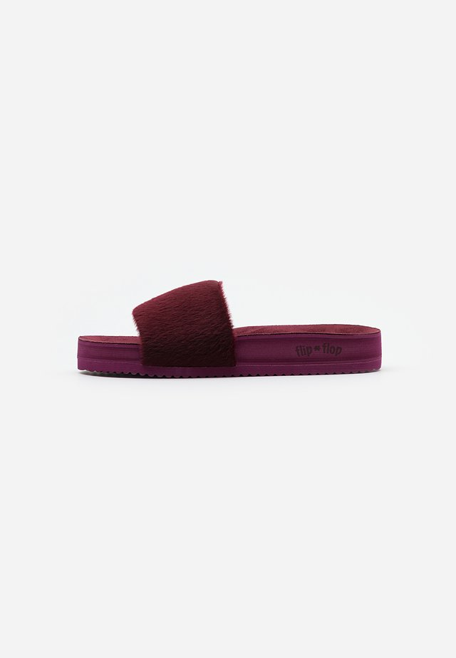 POOL - Pantoffels - dark berry