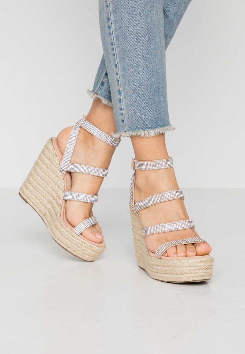 BEBO - TWINKLE - Sandaler med høye hæler - nude