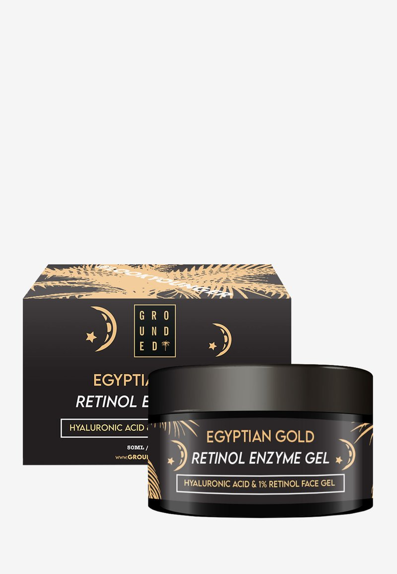 Grounded - EGYPTIAN GOLD FACE GEL MASK - ANTI AGEING - Anti-Aging - gold