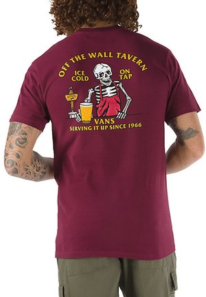 MN OFF THE WALL TAVERN SS - T-shirt med print - burgundy