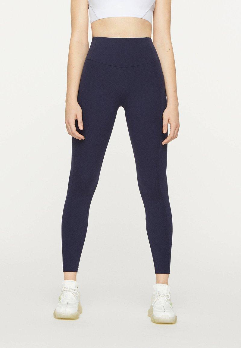 OYSHO - KOMPRESSIONS - Leggings - dark blue
