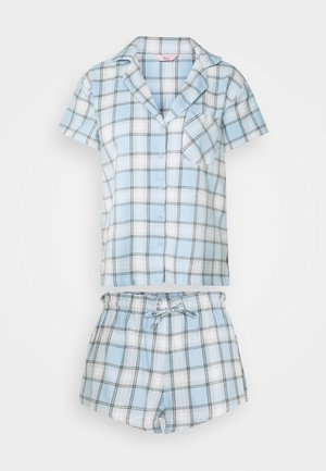 CHECK SHORTIE IN A BAG - Pyjamas - blue