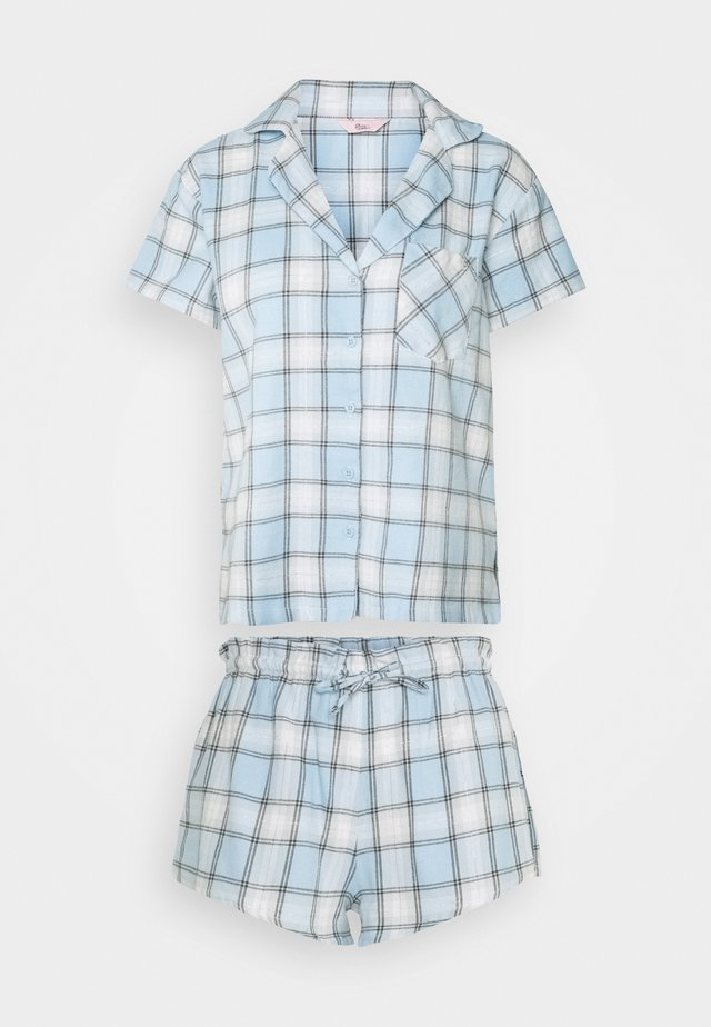 CHECK SHORTIE IN A BAG - Pyjamaser - blue