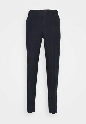 SASHA DRAPE PANTS - Trousers - navy