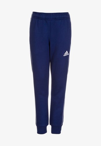 CORE - Tracksuit bottoms - dark blue/white
