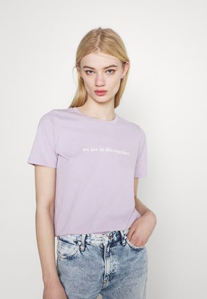 IDA TEE - T-shirt con stampa - lavender