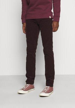 ANBASS - Trousers - deep burgundy