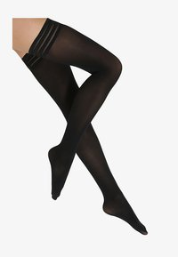 Falke - PURE MATT 50 DEN STAY UPS - Over-the-knee socks - black - 0