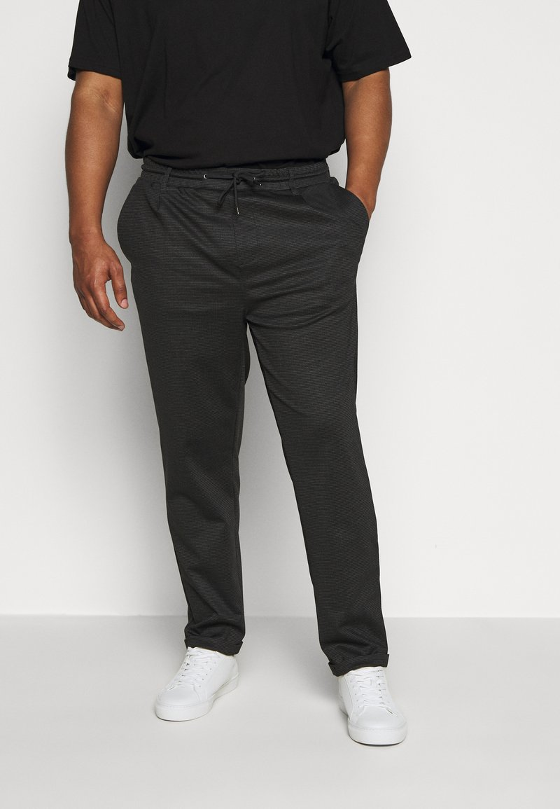 INDICODE JEANS - EBERLEIN WITH ROLL UP CHECK - Trousers - cayman grey