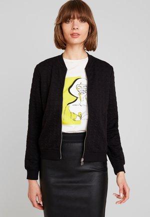 ONLMYNTHE JOYCE - Zip-up hoodie - black
