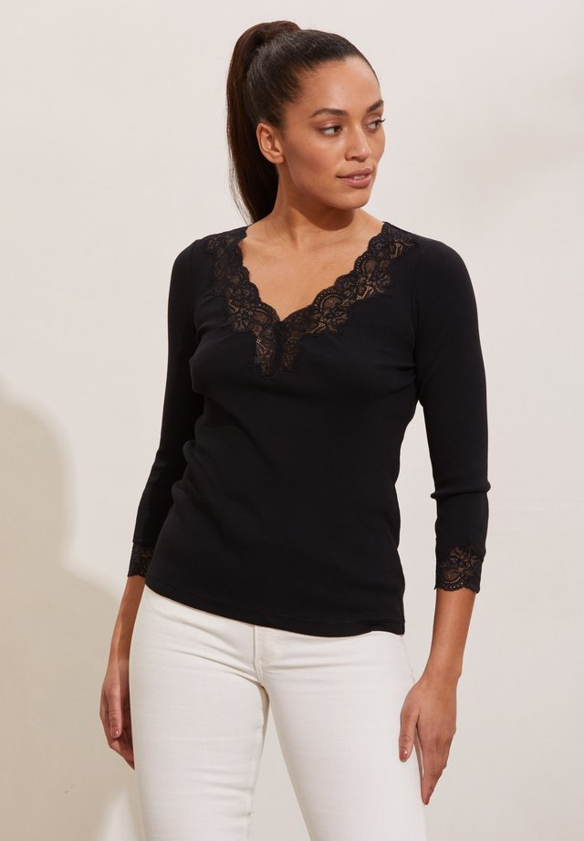 JADE - Langærmede T-shirts - almost black
