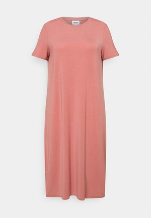 VMGAVA DRESS CURVE - Jersey dress - old rose