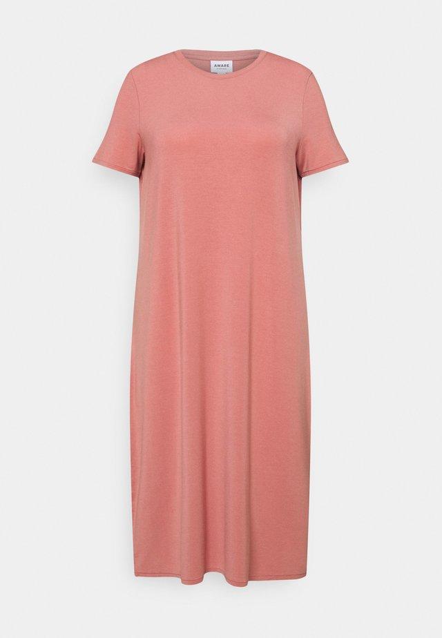 VMGAVA DRESS CURVE - Sukienka z dżerseju - old rose