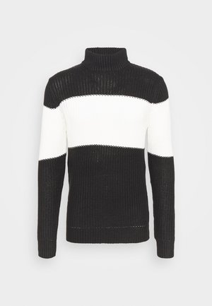 REINOLD - Svetr - jet black/vintage white