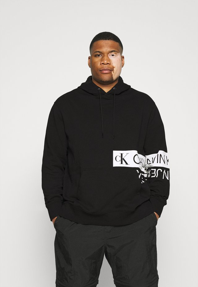 MIRRORED LOGO HOODIE - Sweatshirt - ck black