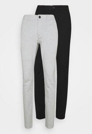 PONTE PANT 2 PACK - Broek - black /light grey melange