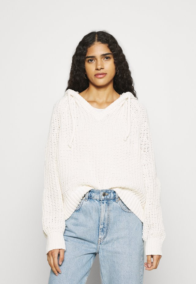 CHENILLE HOODIE - Jumper - natural
