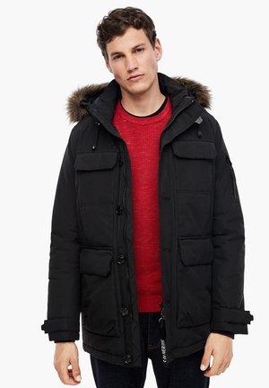 MIT CARGOTASCHEN - Winter jacket - black