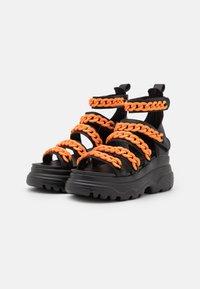 Koi Footwear - VEGAN STRIDENT CHAIN  - Platform sandals - black - 1
