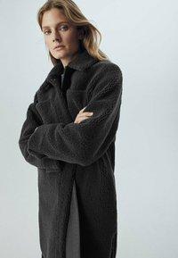 Massimo Dutti - Faux leather jacket - dark grey - 1