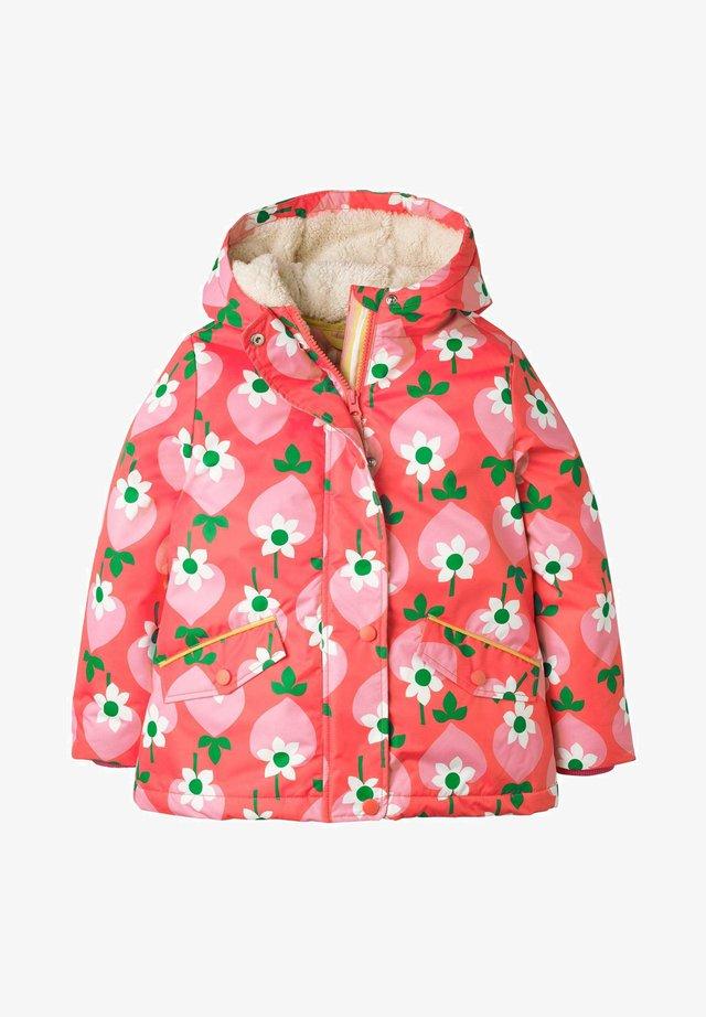 Winter jacket - blassrot, geometrisches erdbeermuster