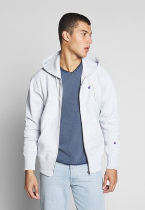 HOODED FULL ZIP  - veste en sweat zippée - light grey